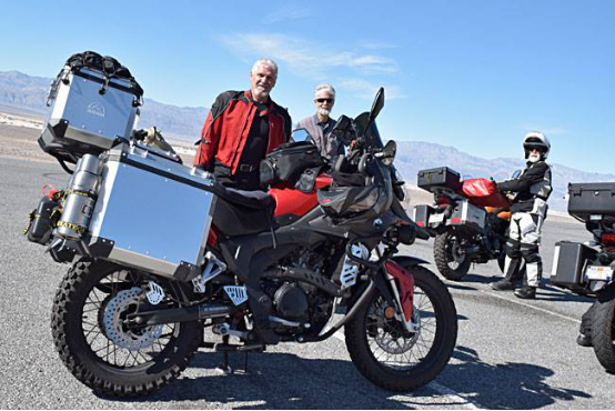 Have a look to some pictures of our friends from @cscmotorcycles in their road trip trough Death Valley.